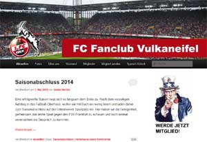 Webseite FC Fanclub Vulkaneifel